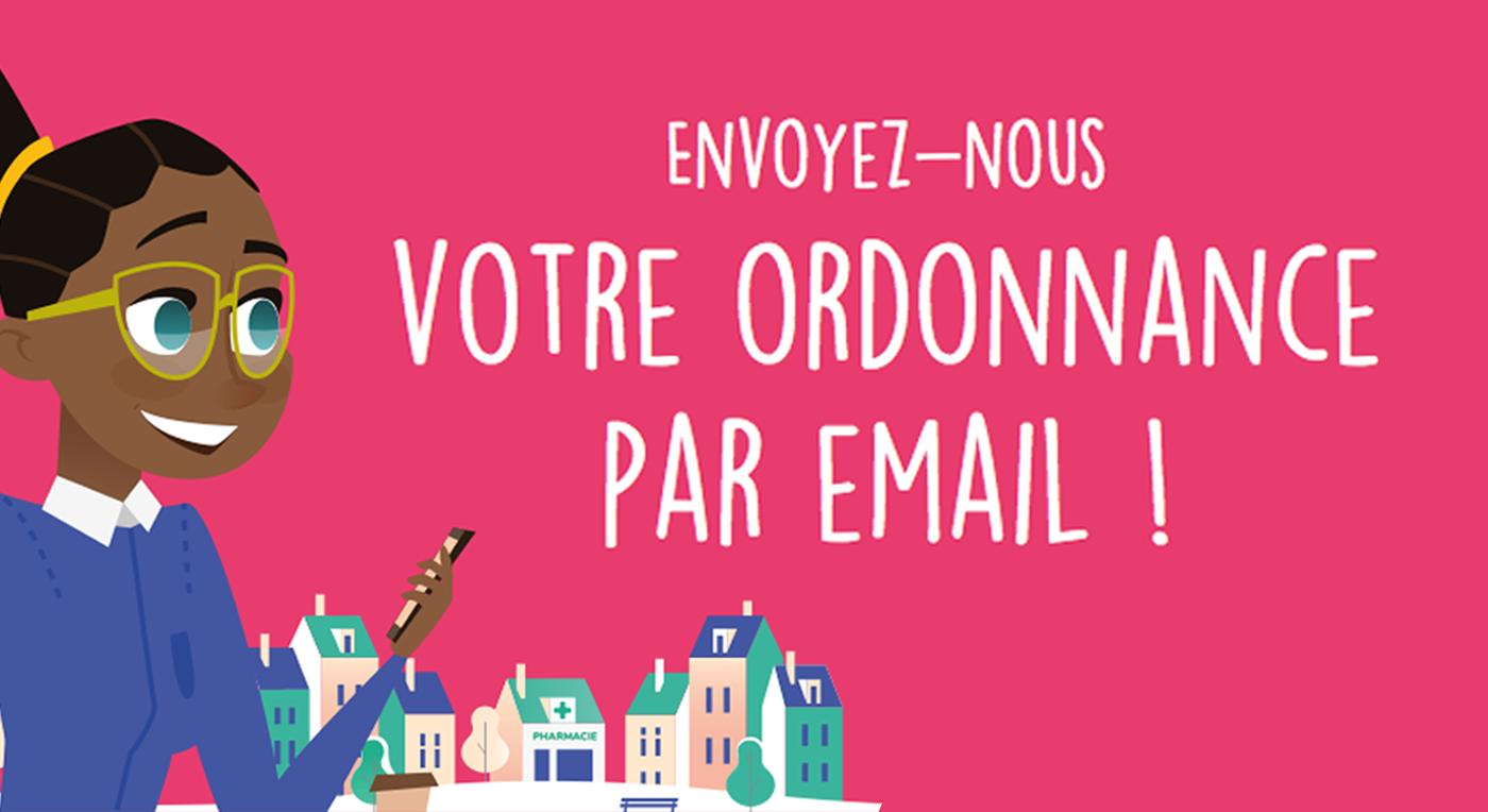 Envoyez-nous votre ordonnance par email sécurisé.