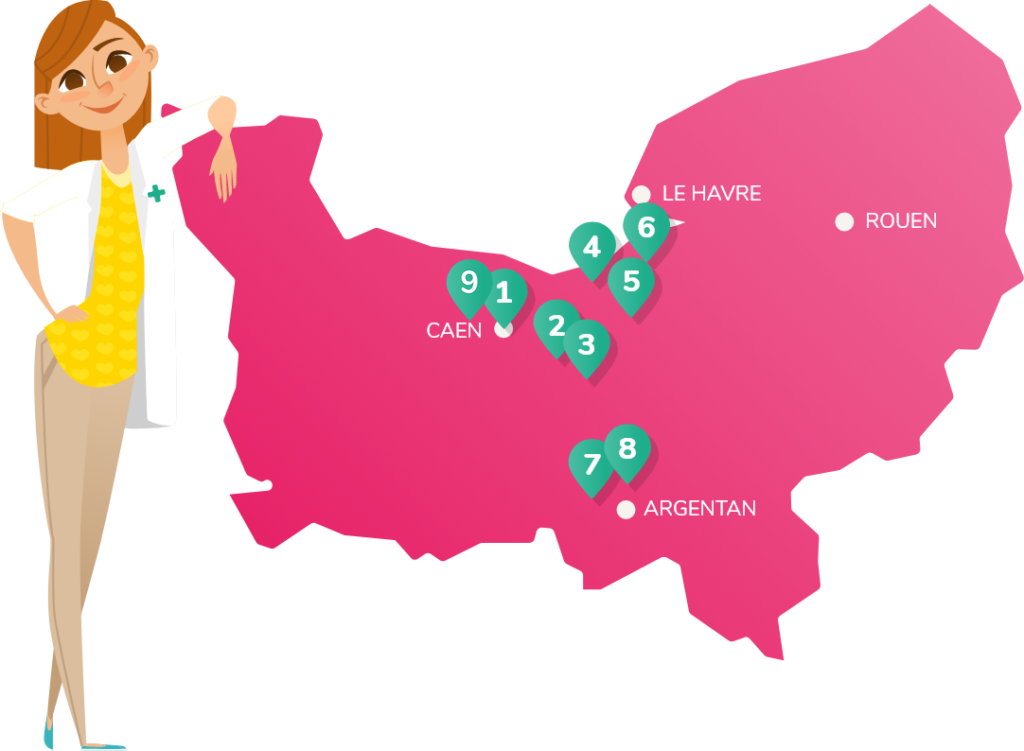 Carte des pharmacies